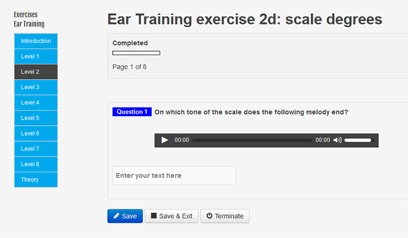 New questions exercise Ear training scale degrees level 2