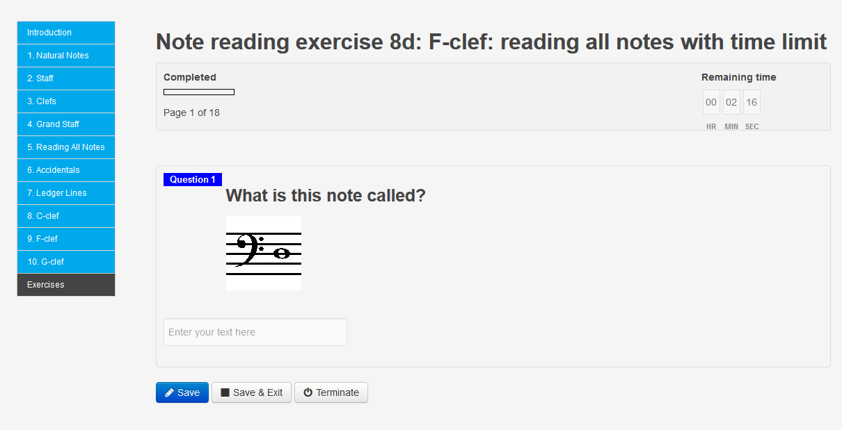 Note Reading: new F-clef and G-clef exercises